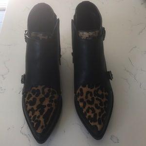 Sam Edelman cheetah fur leather booties